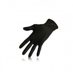 gants nitrile noir taille M x 100